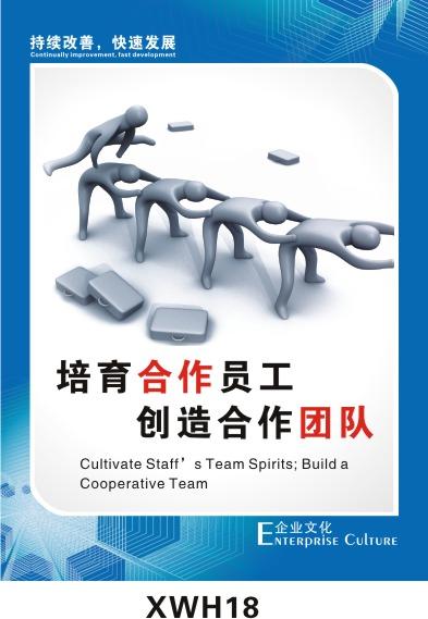 信誉▲企业宣传画/企业挂图/企业管理/企业海报xwh18; 公司宣传标语
